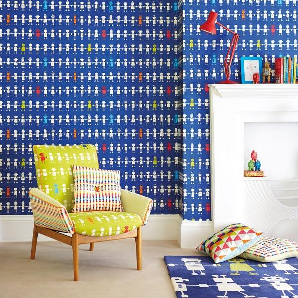 رنگ ها و طرح های شاد و زنده برای کاغذ دیواری اتاق کودک