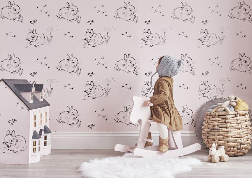 طرحی جذاب برای کاغذ دیواری اتاق کودک