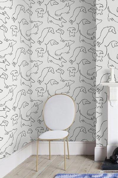 کاغذ دیواری پذیرایی با طرح حیوانات