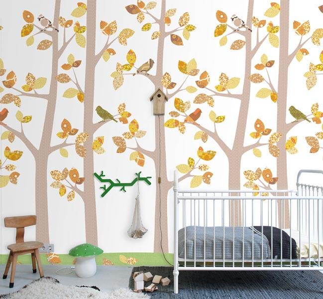 کاغذ دیواری اتاق کودک الهام گرفته از طبیعت