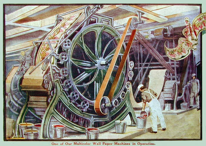 تاریخچه ساخت اولیت ماشین تولید کاغذ دیواری
