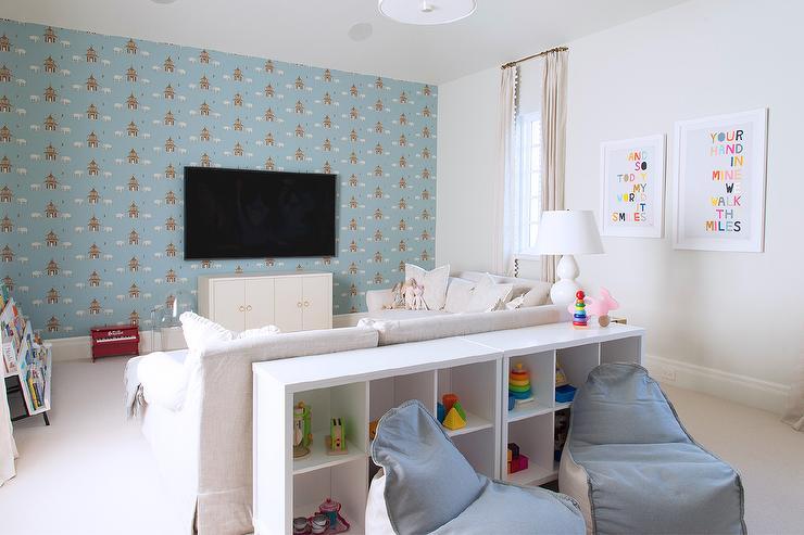 کاغذ دیواری پشت ال سی دی برای اتاق کودک