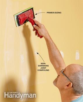 آماده سازی دیوار برای نصب کاغذ دیواری