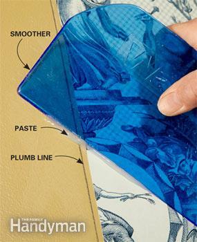 استفاده از کاردک مناسب هنگام نصب کاغذ دیواری