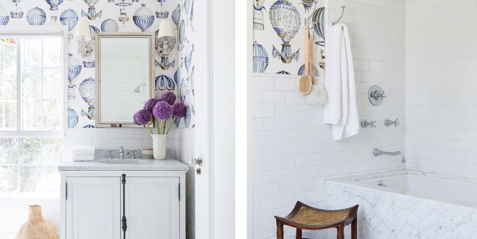 کاغذ دیواری قابل شست و شو برای حمام