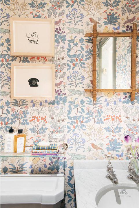 کاغذ دیواری قابل شست و شو برای حمام 3