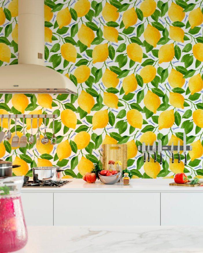 کاغذ دیواری آشپزخانه پر از حس تازگی