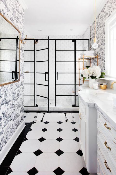 کاغذ دیواری قابل شست و شو با ترکیبی جذاب از سیاه و سفید