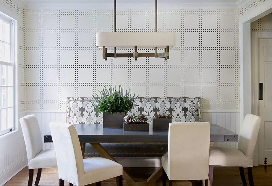 کاغذ دیواری اتاق ناهارخوری مشبک